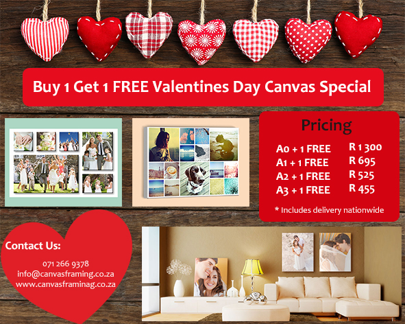 Valentines Day Canvas Specials